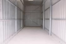 inside storage shed